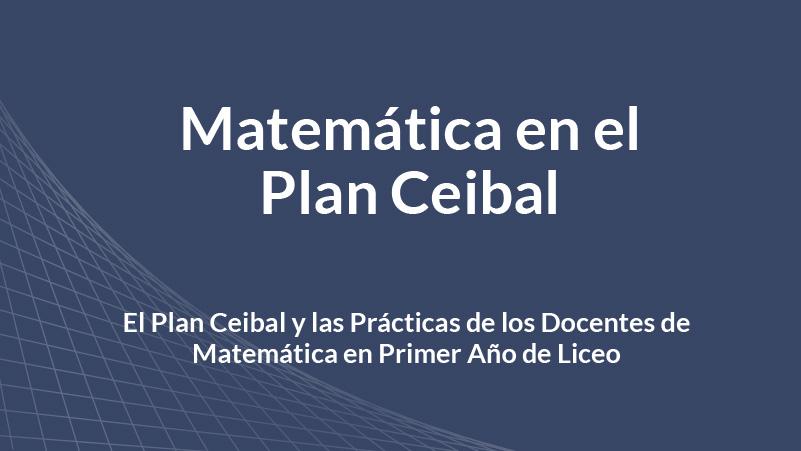 Matemática en el Plan Ceibal