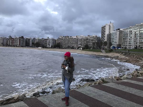 *Estíbaliz Pérez en Uruguay, en 2018