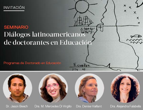 """Flyer sobre la conferencia """"Producir conocimiento desde el sur"""", donde se muestran los oradores y sus imágenes"""